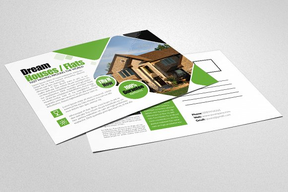 real estate business agency postcard