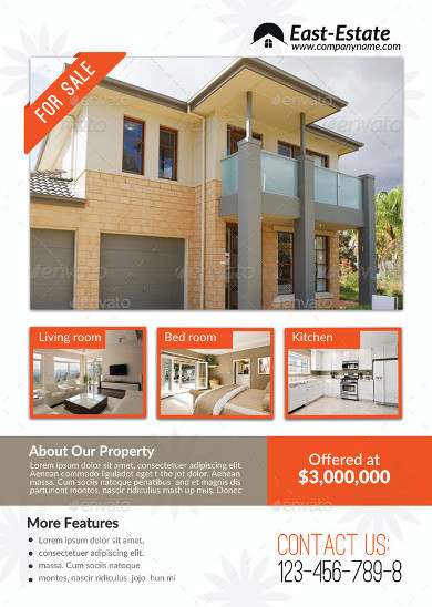 real estate house for sale advertisement template