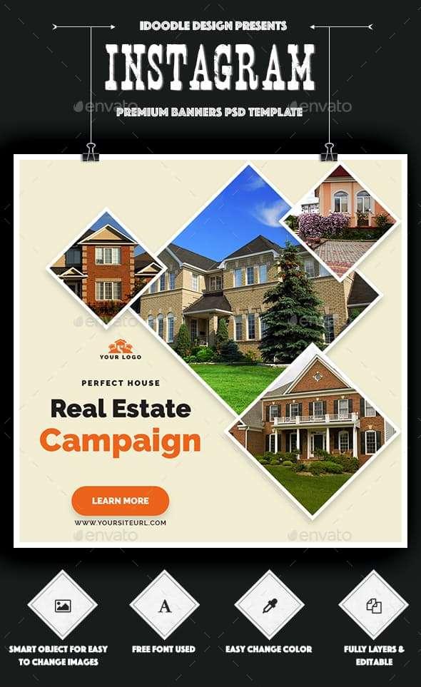 real estate instagram banner ads