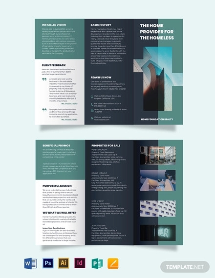 real estate investment group tri fold brochure template