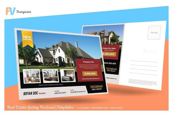 real estate listing postcard