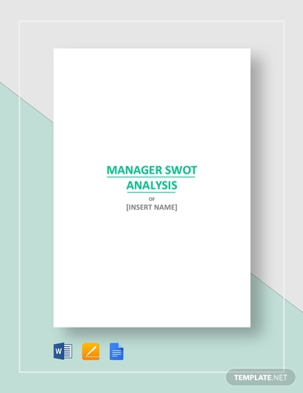 real estate manager swot analysis template