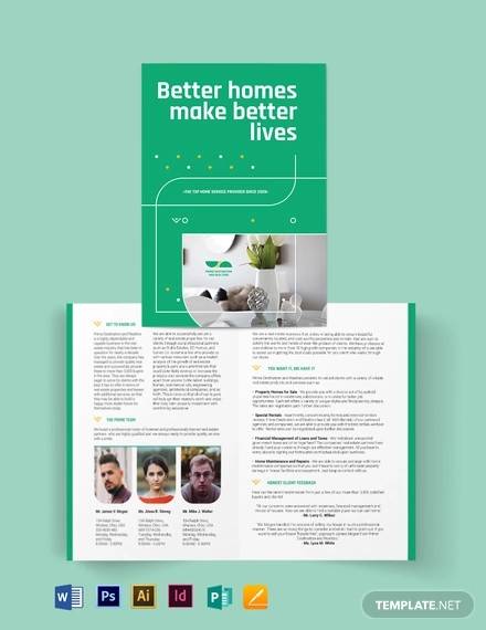 real estate partners bi fold brochure template