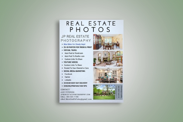 real estate photography brochure