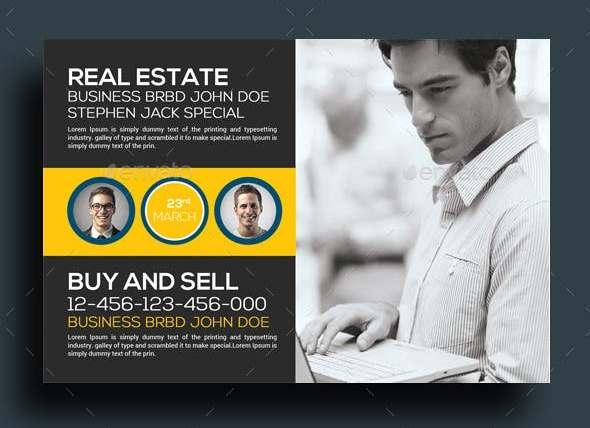 real estate postcard psd template