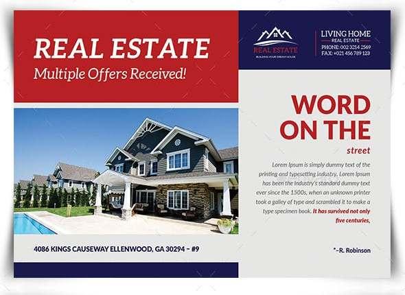 real estate postcard print template