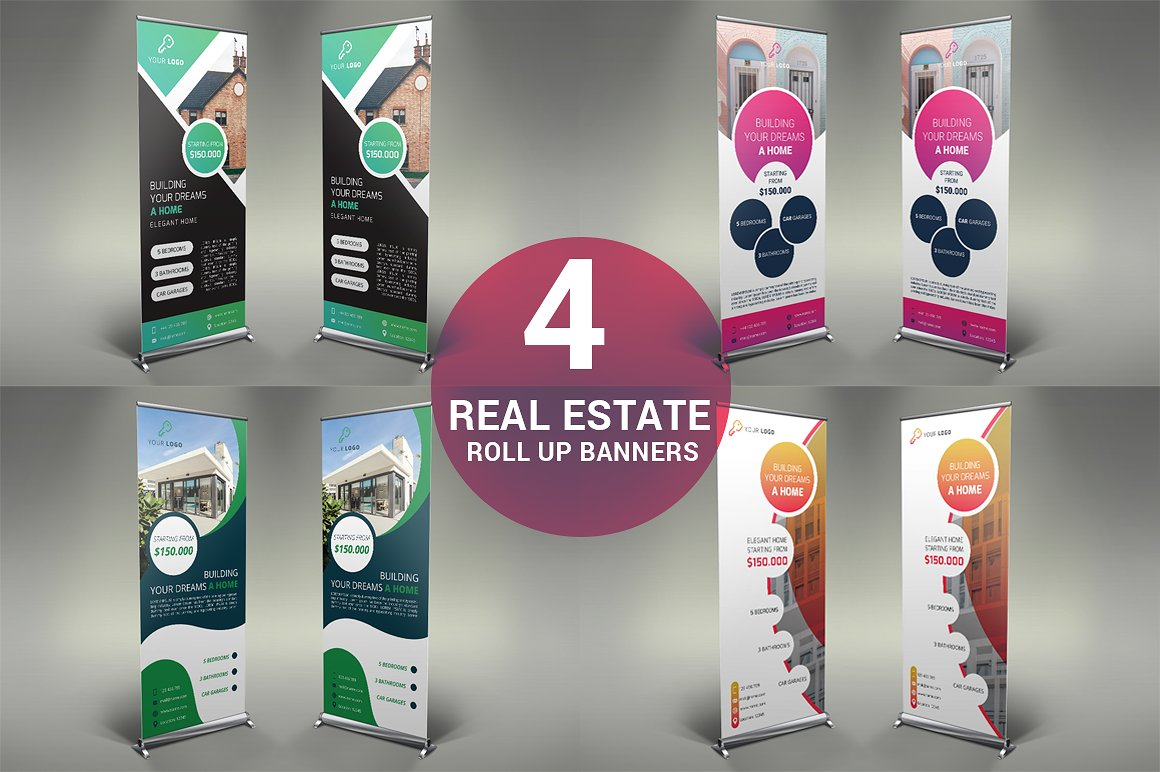 real estate rollup banners collection