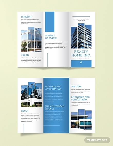 real estate sales brochure template for realtors