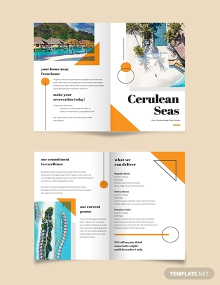 real estate sales brochure template for resort