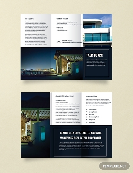 real estate sales brochure template for property sale