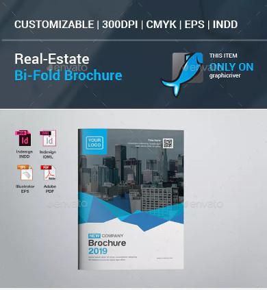 real estate listing bifold brochure