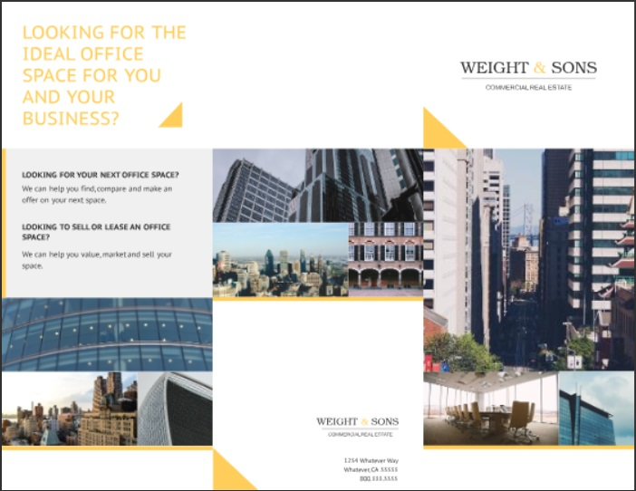real estate property brochure template for commercial property