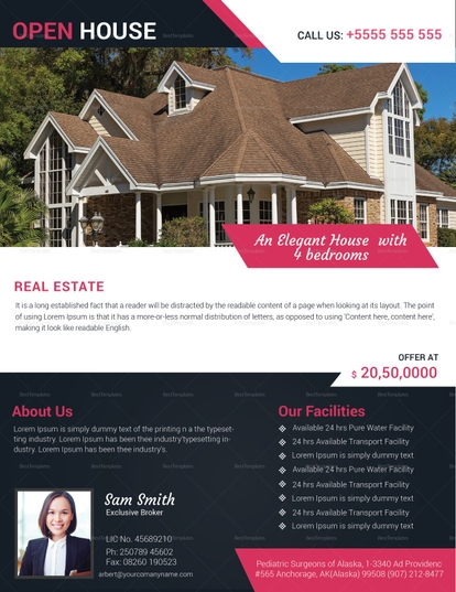 realtor house for sale advertisement template
