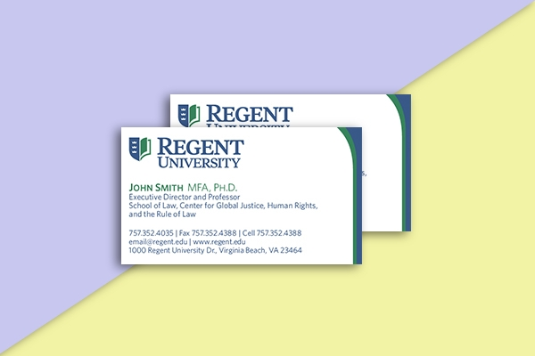 regent university business card