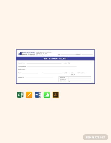 rent payment receipt
