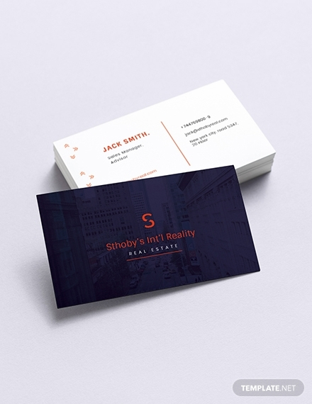 residential real estate business card