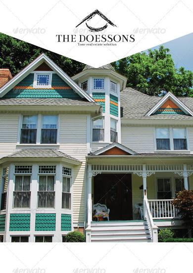 residential realestate brochure template