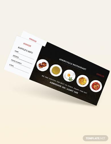 restaurant meal ticket