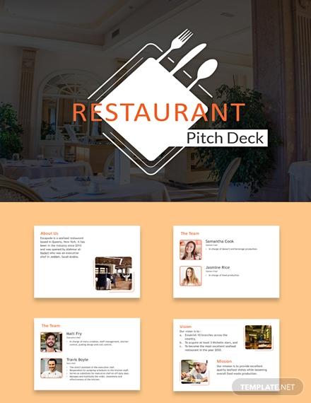 restaurant pitch deck presentation