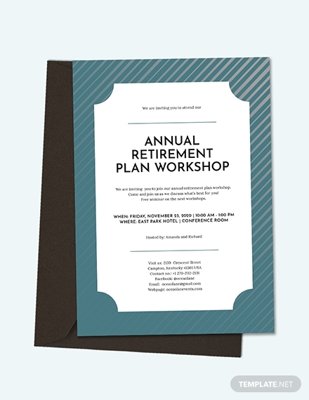 retirement plan workshop invitation