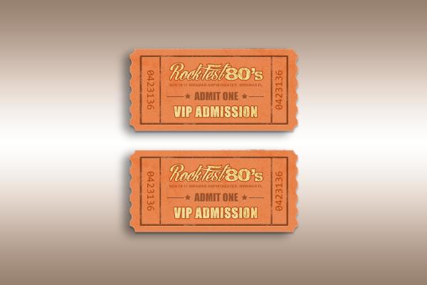 rockfest 80s music festival vip admission ticket