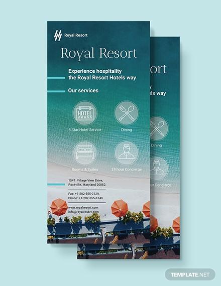 royal resort rack card