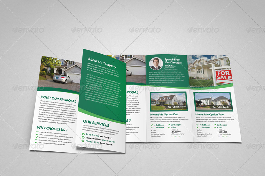 sale real estate listing brochure template