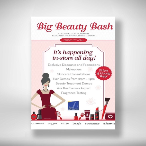 sam mccauleys big beauty bash invitation