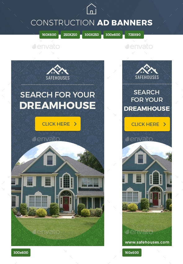 sample real estate ad banners