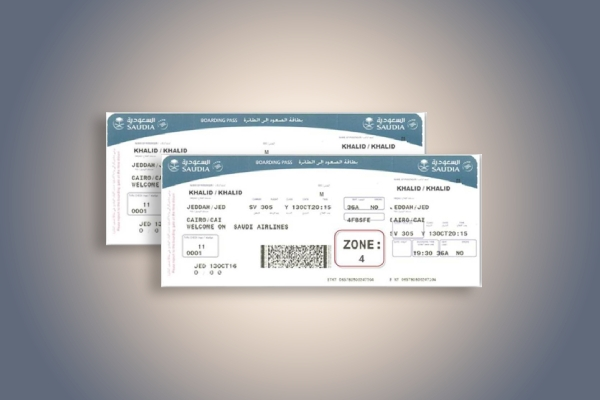 saudia airline ticket