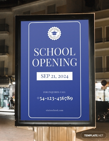 school opening digital signage