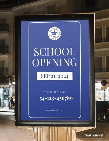 school opening digital signage