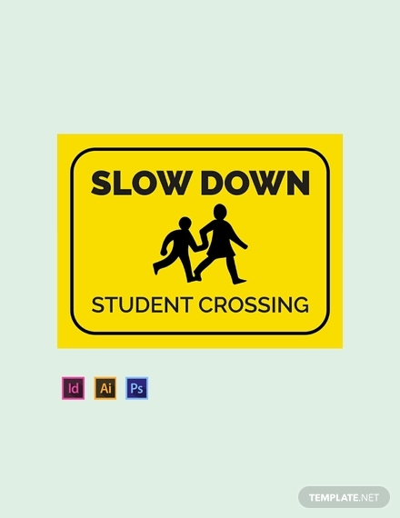 school pedestrian lane sign