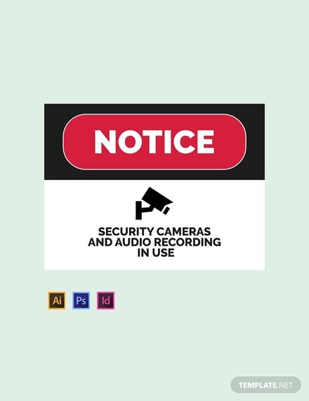 security camera usage sign