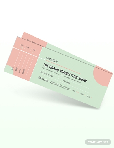 show admission ticket