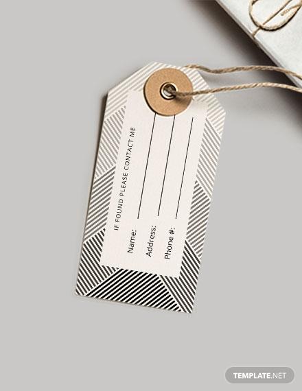 simple luggage tag