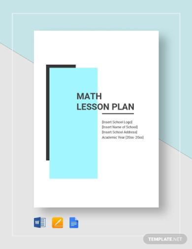 simple math lesson plan