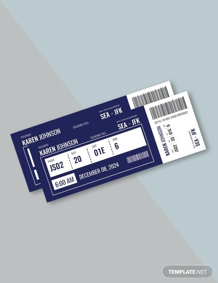 simple plane ticket