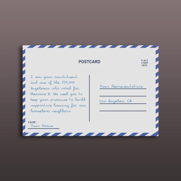 simple postcard