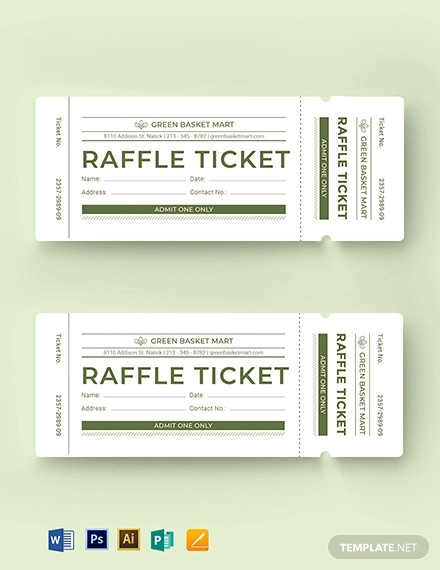 33+ Raffle Ticket Examples, Templates & Design Ideas - PSD ...