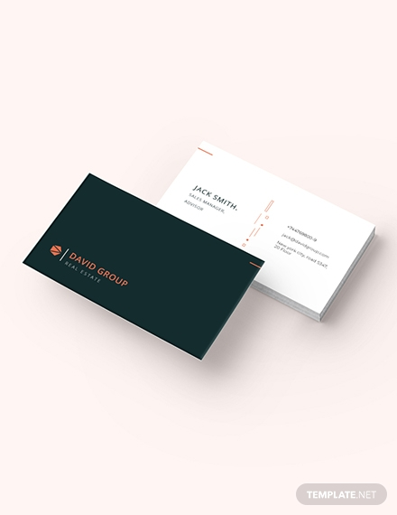 simple real estate business card template