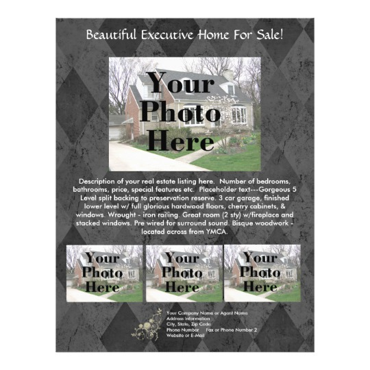 simple real estate listing flyer