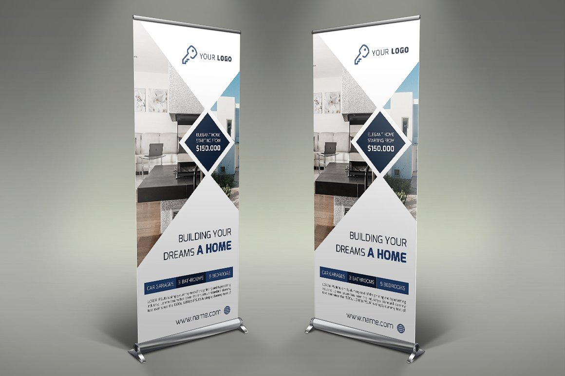 simple real estate rollup banner