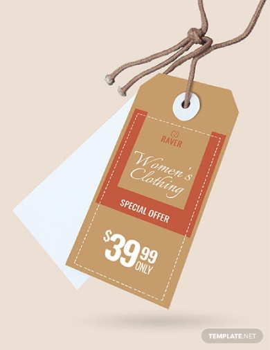 simple shopping tag