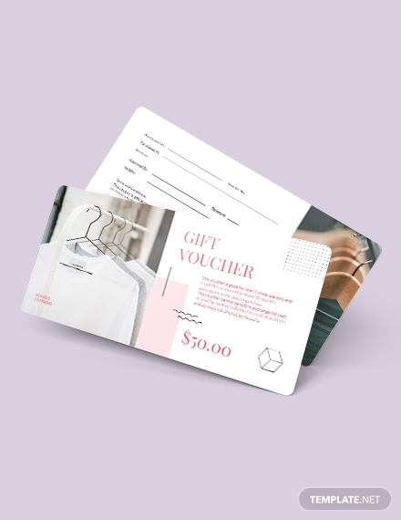 simple thank you voucher