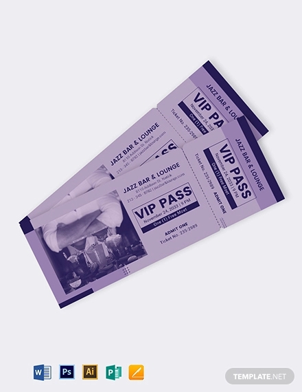 simple vip ticket template