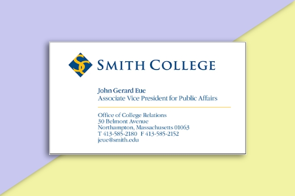 smith college business card