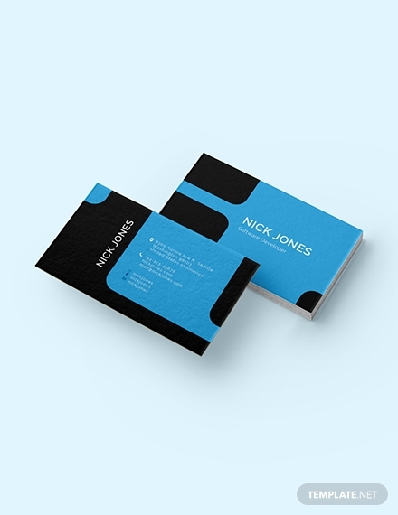 software developer business card
