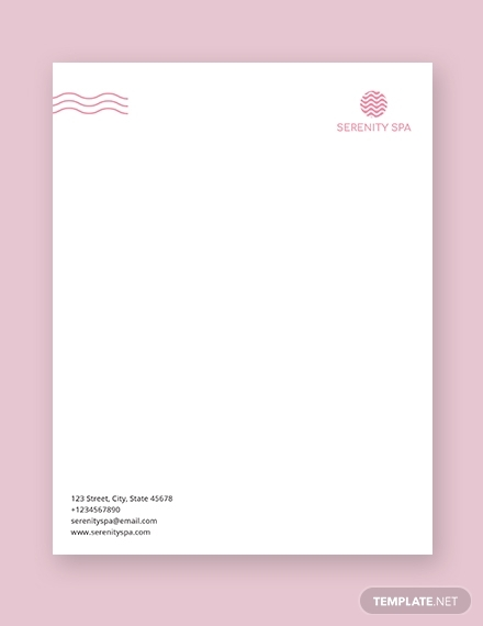 spa letterhead