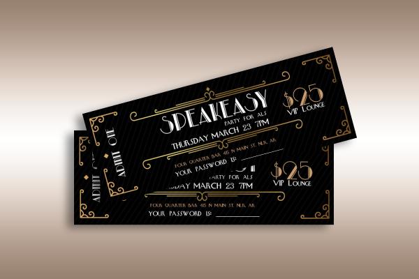 speakeasy party vip ticket